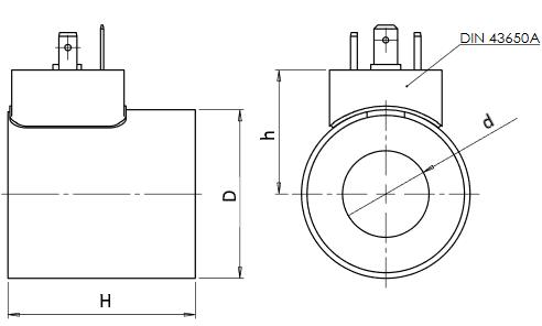 Размеры соленоидов C16-C2, C23-С3, C32-С5