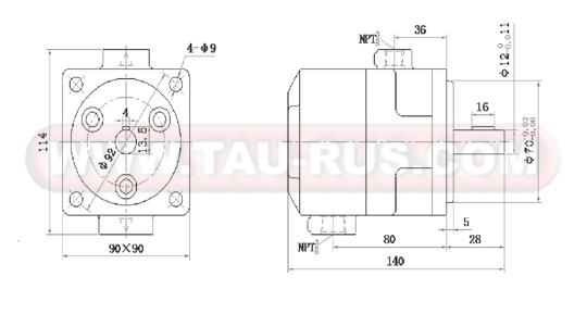 Чертёж насоса серии БГ12-4