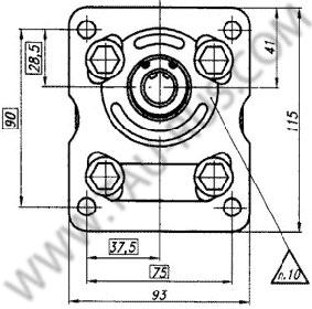 Установочные размеры насосов НШ10У-3 и НШ10У-3Л