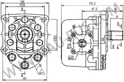Установочные размеры насосов НШ32У-3 и НШ32У-3Л