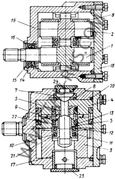 Насос шестеренный НШ32-4,