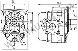 Установочные размеры насосов НШ50У-3, НШ50У-3Л