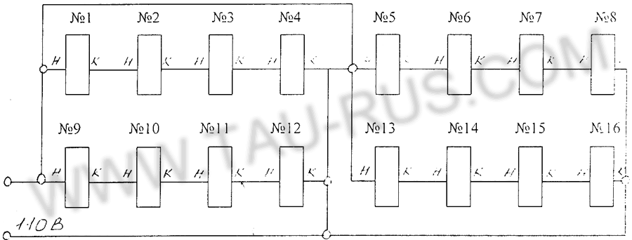 Схема соединения катушек плиты